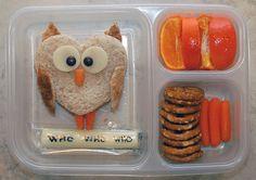 Owl Sandwiches! Cute idea for my kiddo's school lunches