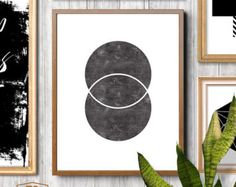 Diamond art diamond prints minimalist art print by TypeSecret