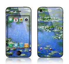 Apple iPhone 4 4S Decal Skin  Claude Monet Water by skunkwraps, $9.95