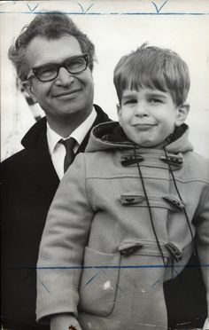 1964. Dave Brubeck and son at Schiphol Airport in Amsterdam. Photo Henk Lindeboom. #amsterdam #1964 #DaveBrubeck