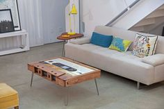 Double Diamond Cassette Tape Coffee Table by 214Graffiti on Etsy