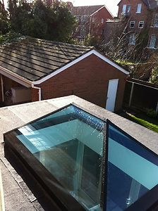Roof Lantern Glass Skylight For Flat Roof - alternative for boys bathroom - lets in more light I think and nice to add the additional height as think the height in that room will be quite low?