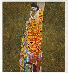 Modern Gustav Klimt Canvas Wall Art (Unframed)