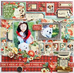 Home is where my dog is - Scrapbook.com - Made with Raining Cats and Dogs collection by Graphic 45.