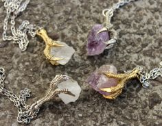 NEW I Heard They Eat Cigarettes Claw Crystal Necklaces !! Available Online at www.iheardtheyeatcigarettes.com Free World Delivery !!
