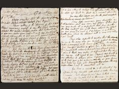 Clair Clairmont's draft letter to Lord Byron, 1820.  One angry lady. And with good reason.
