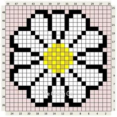 The Craft Co.: Crochet Charts with written counts Cross Stitch Charts, Cross Stitch Designs, Cross Stitch Patterns, Pixel Crochet, Crochet Chart, Loom Patterns, Beading Patterns, Loom Beading, Cross Stitching