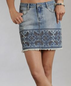 Women's Skirts - Clothing | Order Now at LN-CC - Embroidered Denim ...