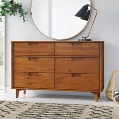 A good dresser can change your room—and dare we say your life? The right dresser not only increases your storage capacit Wood Platform Bed, Upholstered Platform Bed, Upholstered Beds, 7 Drawer Dresser, Dresser With Mirror, Wood Dresser, Dresser Ideas, Wood Nightstand, Double Dresser