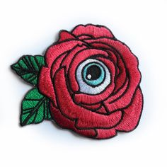 Red: Flower of My Eye Iron-on Patch