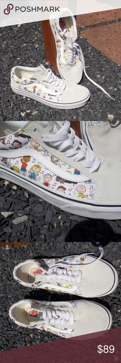 d36deb31f2c999 Vans Limited Edition Peanuts Sneakers W 10 M 8.5 Super gently preowned -  hard to find
