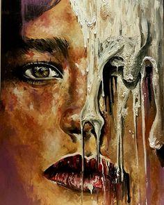 Finally finished  Struggles 120x80 Acrylic on canvas  #art #artist #acrylicpaint #acrylic #artwork #portrait #painting #life #struggle