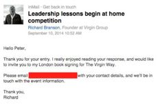 "I won a copy of ""The Virgin Way"" - Find out how at Like a Virgin 