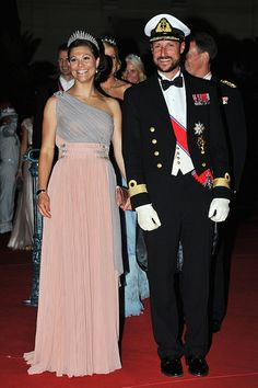 Crown Princess Victoria of Sweden and Crown Prince Haakon of Norway.