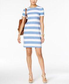 MICHAEL Michael Kors Striped T-Shirt Dress | macys.com