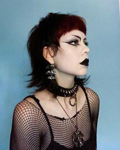 Punk Makeup, Hair Makeup, Punk Fashion, Gothic Fashion, Korean Fashion, Alternative Outfits, Alternative Fashion, Maquillage Goth, Estilo Punk Rock