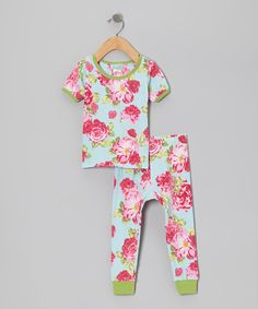 Take a look at this Summer Cabbage Rose Pajama Set - Infant on zulily today!