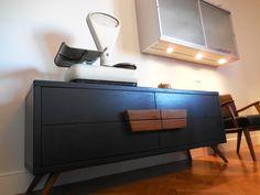 kitchen #berkel scale & 50ties buffet with olive wood handles_ Maria Riemma Architect