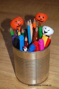 Ozdoby na tužky z kaštanů