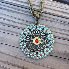 Bullet jewelry. Flower necklace with .45 auto bullet casing