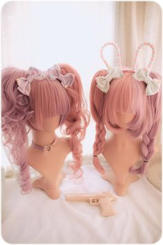 Bonbon Series - Choco Hime & Anemone & Dolly Cat from Dream Holic Offical Onlineshop Kawaii Hairstyles, Pretty Hairstyles, Wig Hairstyles, Kawaii Wigs, Lolita Hair, Anime Wigs, Hair Reference, Pixie Bob, Cosplay Wigs