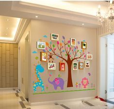 13 Nice Family Wall Decor Ideas for Your Home Adornment Teen Room Decor, Nursery Room Decor, Nursery Wall Decals, Wall Sticker, Unique Family Photos, Family Photo Frames, Family Wall Decor, Photo Wall Decor, Tree Design On Wall