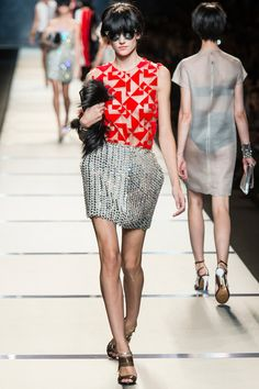 No one does it like Fendi. LOVE.  Fendi Spring 2014 Ready-to-Wear Collection Slideshow on Style.com