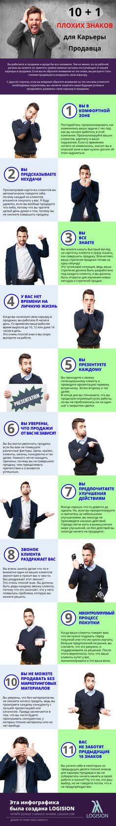 10+1 Плохих Знаков для Карьеры Продавца | Logision