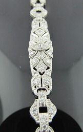 Ferro Jewelers - Estate Jewelry | Art Deco Platinum 2.35ctw diamond bracelet