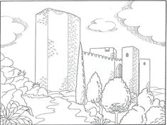 Castillo De Santa Catalina De Jaen Jpg Castillo Para Colorear Dia De Andalucia Dibujos Para Colorear