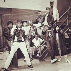 Krs, Ms Melodie, Tone, Manager Moe, Robocop, Derrick D-Nice Jones, DJ Red Alert, Kenny Parker, Fab 5 Freddy, & Ann Carli