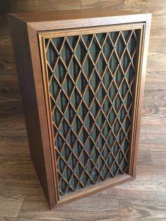 Set Of 2 Vintage Pioneer CS77A Speakers-Two 1970s 65W Wood Cabinet Speakers Woofers and Tweeters