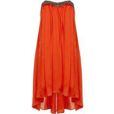 Ted Baker Embellished Drop Hem Dress found on Polyvore
