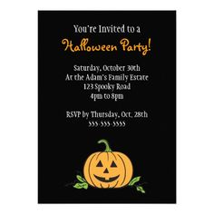 halloween party announcement