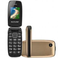 Celular Multilaser Flip UP, Tela 1.8, Câmera, Radio FM, Desbloqueado,  Dourado fefca9e862
