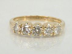Estate Diamond Wedding Ring  14K Yellow Gold  by lonestarestates $550.00