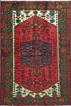 "Nahavand Persian Rug, Buy Handmade Nahavand Persian Rug 4' 3"" x 6' 3"", Authentic Persian Rug"