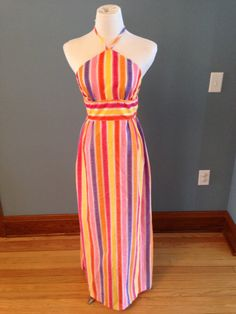 Citrus Colored Maxi Dress by CleverlyCurated on Etsy