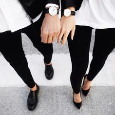 Imagem de fashion, couple, and black
