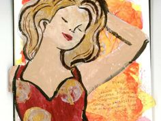    Gesso Figure by The One Minute Muse. Gesso over a magazine cut-out to create interesting illustrations. Easy art journal, mixed media painting techniques you can do anytime!