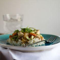 Pollo al jengibre con arroz basmati. Receta tailandesa con Thermomix - Thermomix por el mundo Japanese Food, Salad Recipes, A Food, Tacos, Cooking Recipes, Mexican, Asian, Healthy, Ethnic Recipes