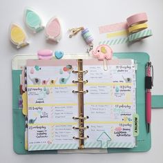 Week 18 - Pastel Elephant Theme in my Light Teal Color Crush Planner (Personal size) featuring stamps by @mommylhey and @studio_l2e  Planner Accessories by @pigtailsandpockets and @mahalmade on Etsy. Please tap on the photo to find where the items are from. Then, double tap to show me some love!