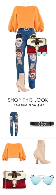 """MORNING SÃO PAULO"" by celsoromera ❤ liked on Polyvore featuring Ashish, Gucci, TIBI, Fendi and Christian Dior"