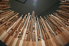 Spectacular Wood Sculptures: The City Series by McNabb