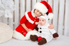 Beautiful Christmas dress and snowman outfit for 6 mths baby boy