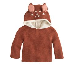 When buying something adorable means helping out someone else, everything just seems to make sense. And that's what you're doing when you choose Oeuf's reversible hoodie in luxurious (and hypoallergenic) double-faced baby alpaca wool. Though based in Brooklyn, Oeuf's styles are hand knit in Bolivia by a self-managed community of indigenous women, enabling them to afford proper health care and schooling for their children. With a zipper up the back for easy on and off, the hood...