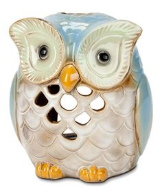 Another great find on #zulily! Blue Owl Lantern #zulilyfinds