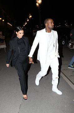 Love the tuxedo look for pregnant women -Kim Kardashian