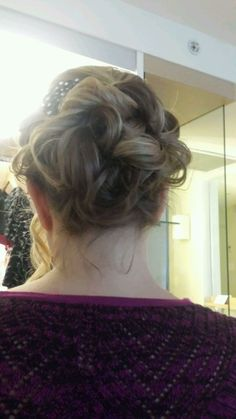 Great up do for a wedding I attended.  Beware of all of the bobby pins you will have to take out afterwards!!