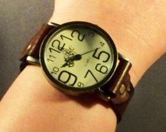 Reloj reloj de mujer reloj brazalete de cuero por 4MLeatherDesign
